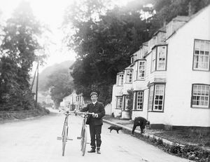 Cycling in Perranarworthal, Cornwall. 1902
