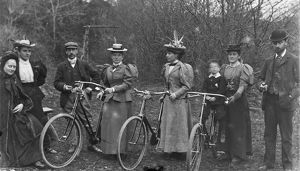 Cyclists. Around 1910