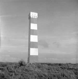 Daymark Tower, Gribbin Head, Tywardreath, Cornwall. 1976
