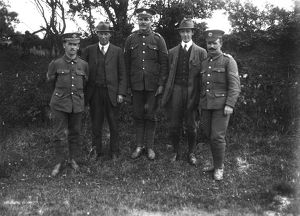 DCLI Recruiting march, Ruan Minor, Cornwall. 29th June 1915