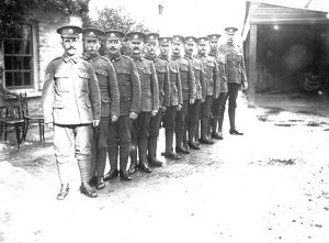 DCLI sergeants, possibly Truro, Cornwall. 1915