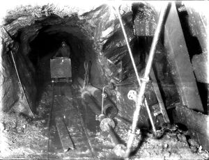 Dolcoath Mine, Camborne, Cornwall. February 1904