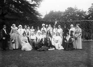 Elizabethan Pageant, perhaps St Stephen in Brannel, Cornwall. 4th August 1923