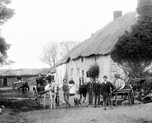 Farmhouse and outbuildings, Blackwater, Cornwall. Around 1890