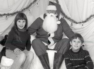 Father Christmas, Lanlivery, Cornwall. December 1984