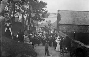 Fentonluna Lane, Padstow, Cornwall. Early 1900s