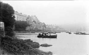 The ferry, Flushing, Cornwall. Around 1910