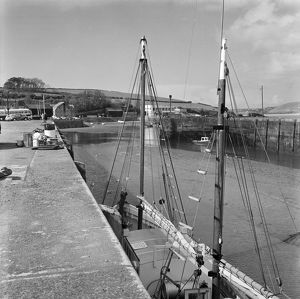 Fish Quay, Padstow Harbour, Cornwall. 1968