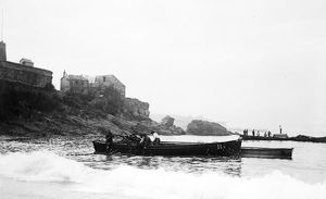 Fishing, St Ives, Cornwall. Early 1900s
