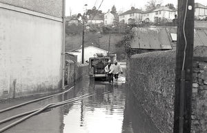Flooding, The Moors, Lostwithiel, Cornwall. 28th December 1979