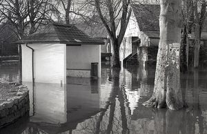 Flooding, The Parade, Lostwithiel, Cornwall. 28th December 1979