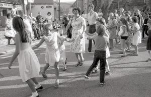 Flora Dance, Lostwithiel, Cornwall. July 1984