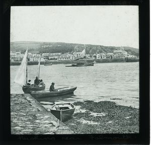 Flushing waterfront from Falmouth, Cornwall. Around 1900