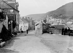 Fore Street, Port Isaac, Cornwall. 1906