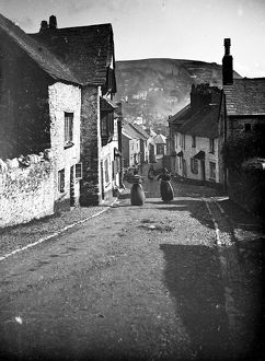 Fore Street, West Looe, Cornwall. Probably 1890