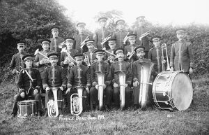 Foxhole Brass Band, St Stephen in Brannel, Cornwall. 1919