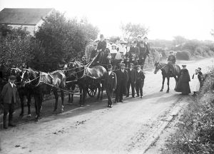 Frogpool choir on an outing, Gwennap, Cornwall. 1908