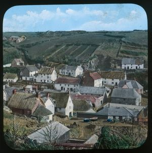 A general view of Cadgwith, Cornwall. Late 1800s