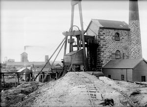 Goulds Shaft, Wheal Granville Mine, Camborne, Cornwall. 1911