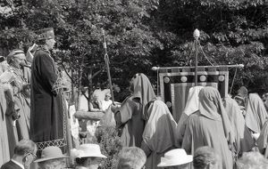 Gorsedh Kernow Bardic ceremony, Lostwithiel, Cornwall. September 1989