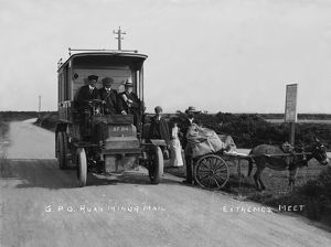 GPO Mail Bus Ruan Minor Cross Roads, Cornwall. 1903