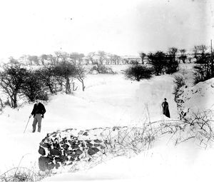 The Great Blizzard, Redruth, Cornwall. 1891