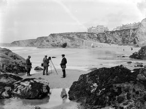 Great Western Beach, Newquay, Cornwall. 24th June 1910