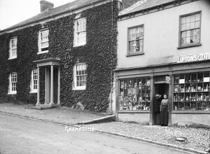 Grocer's shop in Grampound, Cornwall. Early 1900s