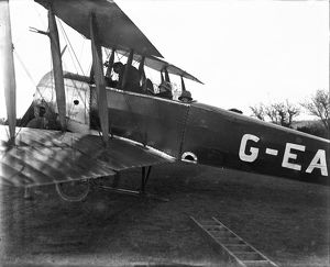 Grounded biplane. 1924