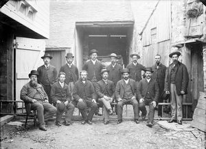 Group of miners, before leaving for South Africa. 1890