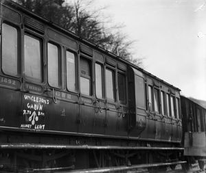 GWR 6-wheeled clerestory 3rd class coach No. 1692. Around 1912