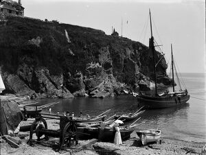 The Harbour, Cadgwith, Cornwall. 1908