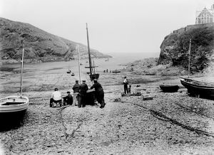 Harbour, Port Isaac, Cornwall. June 1906