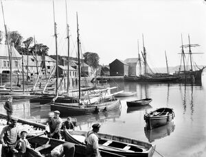 Harbour scene, Padstow, Cornwall. 12th June 1906
