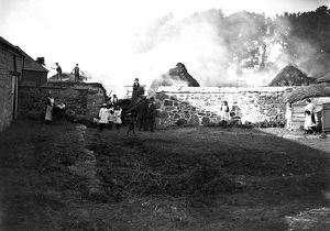 Hay rick fire, Cornwall. September-early October 1921