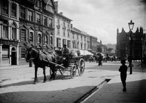 Horse and cart in Boscawen Street, Truro, Cornwall. Around 1910