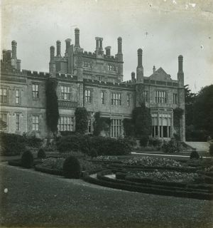Front of house from formal garden, Tregothnan, Cornwall. Around 1925