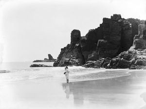 Housel Bay Beach, Landewednack, Cornwall. 1908