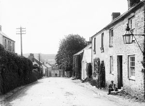 Houses in Fore Street, Grampound, Cornwall. Early 1900s