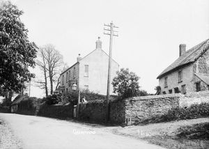Houses in Grampound, Cornwall. Early 1900s