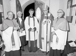Installation of Vicar of Lanlivery, Cornwall. 14th February 1989