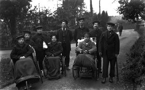 Invalid sailors, The Royal Naval Auxiliary Hospital, Truro, Cornwall. 25th February 1916