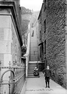 Jacob's Ladder, Falmouth, Cornwall. Early 1900s