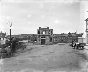 Junction of St Pirans Road and Beach Lane, Perranporth, Cornwall. Around 1925