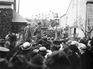Lance Corporal Rendle VC speaking at Grampound, Cornwall. 18th May 1915