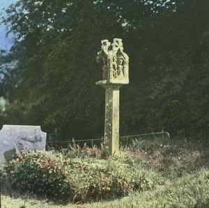 Lantern Cross, St Mawgan in Pydar, Cornwall. Around 1925