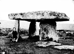 Lanyon Cromlech, Madron, Cornwall. October 1858