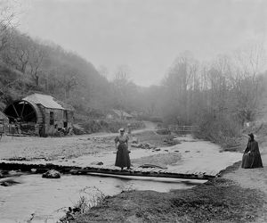 Lawry's Mill, Carnanton Woods, St Mawgan in Pydar, Cornwall. Early 1900s