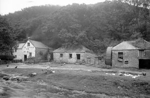 Lawry's Mill, Carnanton Woods, St Mawgan in Pydar, Cornwall. Around 1890
