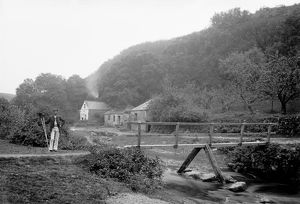Lawry's Mill, St Mawgan in Pydar, Cornwall. Early 1900s